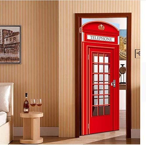 fon Wohnkultur Diy Wandkunst Tür Kühlschrank Aufkleber Box Telefonzelle Wandbild Decole Film ()
