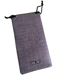 Lorjoy Caja de la Caja portátil Eyewear Bolsas de Lino Metal sólido despliegue de Color Gafas de Moda Organizador de protección