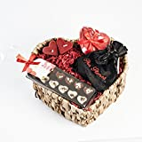 Geschenk im Set als perfekte Geschenkidee für Sie und Ihn zum Valentinstag - Geschenkset in hochwertigem Geschenkkorb für Männer und Frauen