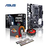 Memory PC Aufrüst-Kit AMD Ryzen 5 1600 AM4 (SixCore) Summit Ridge 6x 3.2 GHz, 16 GB DDR4 2133Mhz, ASUS PRIME X370-PRO mit Aura Sync/Bleuchtung, USB 3.1 Typ C, SATA3, 7.1 Sound, M.2 Sockel, GigabitLan, MultimediaKIT, komplett fertig montiert und getestet.