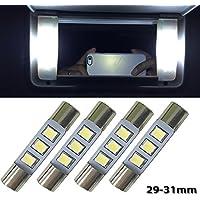 nslumo 4x blanco LED 5630SMD sustituir bombilla para 30563057ts-14V1cp 6000K 28mm 29mm 30mm 31mm para interior de coche sol visera espejo luz