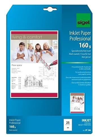 Sigel IP186 Papier professionnel d'imprimante jet d'encre, format A4 (21 x 29,7 cm), 25 feuilles