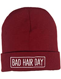 Bad Hair Day Mütze mit Rahmen Bad Hair Day Beanie Beanies Neuer Style