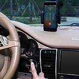 AUKEY Receptor Bluetooth para Coche con Manos Libres, Adaptador Inalámbrico con USB Cargador de Coche de 3-Puertos, Compatible con los Teléfono iOS y Android, Tablet etc