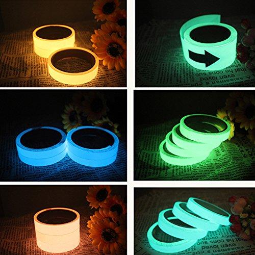 Aixin Leuchtendes Klebeband, ablösbar, wasserdicht, leuchtet im Dunkeln, Sicherheitsband, dekoratives Klebeband -