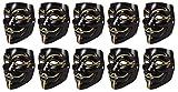 HAC24 10 Stück Set V wie Vendetta Maske | Guy Fawkes Halloween Anonymous Maske Schwarz