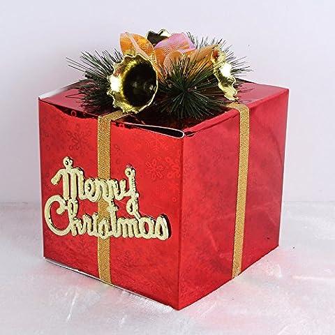 aybc ornamenti natalizi, confezione regalo, Red, 25 cm