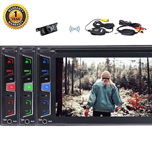 2018 ultimo modello di Eincar, Wince 8 Doppio sistema 2 DIN lettore radio autoradio DVD con macchina fotografica di riserva senza fili 5 punti multi-touch capacitivo schermo Uscita Sub-woofer HD AM F
