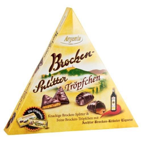 Brocken-Splitter | Schokoladenspezialität mit Krokant und Zartbitterschokolade | Harzer Spezialität