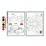 Manyo fogli a colorier, Farfalla/Aereo/Auto, Tavola da disegno a colorier consegna casuale