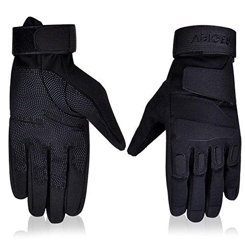 Vbiger Outdoor Sport Fahrradhandschuhe Mountainbike Handschuhe Motorradhandschuhe (Schwarz, XL) - 2