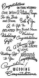 Salutations de mariage - Felicitations // Tampon Clear Stamp Pack (10x18 cm) FLONZ