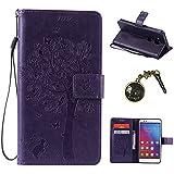 PU Carcasa de silicona teléfono móvil Painted PC Case Cover Carcasa Funda De Piel Caso de Shell cubierta para Huawei Honor 5x + Polvo Conector