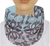 XXL Damen Schal leichter Schlauchschal Viele Farben (Aqua/Grau)