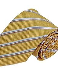 WZW Cravate Vintage / Soirée / Travail / Décontracté Polyester.Homme Rayé.Jaune Toutes les Saisons