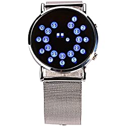 BSFY Creative Circular fashion Watch Mirror LED Ball Watch Wrist Watch