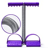 Wkuk élastique Sit Up Corde à tirer Corde Tension à ressort avec poignée Pédale abdominale Baskets multifonction pour exercices de jambes perte de poids Fitness Yoga, violet