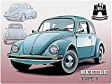 VW Wolfsburg Beetle Type 1 Metallschild (rh)