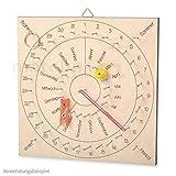 matches21 Ewiger Kalender als Nagelbild Dauerkalender Lernkalender Holz Zum Selbstgestalten für Kinder ab 6 Jahren