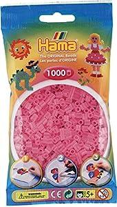 Hama Beads - Bolsa de Repuesto para 1000 Cuentas, Color Rosa translúcido