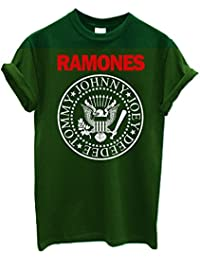"Herren-T-Shirt ""Ramones"" - stampa bicolore T-Shirt punk rock logo 100% Baumwolle LaMAGLIERIA"