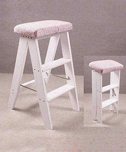 Schritt Stuhl Hocker (WUFENG Multifunktion Stuhl-leiter Nordic Creative Faltbares Massivholz Sessel Trittleiter Schritt Hocker ( Farbe : B ))