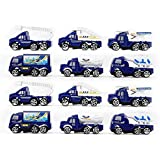 Amitasha Unbreakable Airport Safety Car Toy Set For Kids - 12 Pcs