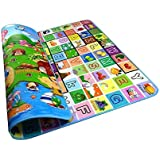 Baby Child Girls Crawling mat 2 Side Kids Playing Gym Mats Ideal Gift for Baby Baby Gife 200 x 180 x 0.5cm