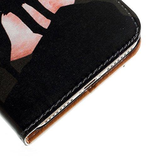 iPhone 7 4.7 Pouces Coque, Vandot 3 en 1 PU Cuir Flip Magnétique Portefeuille Etui pour iPhone 7 Mandala Pattern Gaufré Housse de Protection avec Cartes de Crédit Slots et Fonction Stand Support Créat Style-Loup