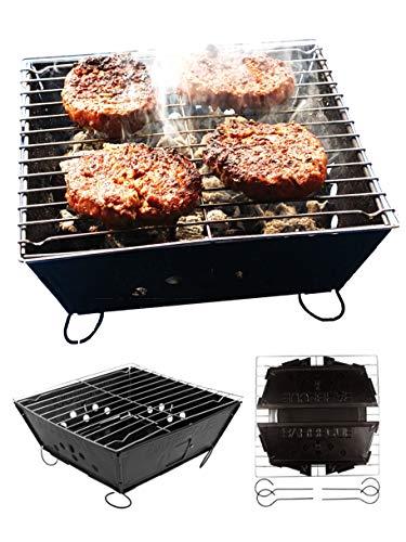 BBQ Pliable Pour Fresh Grills, Pack à Barbecue Plat Au Charbon De Bois Conçus Pour Le Camping, Les Activités Extérieurs et le Jardin