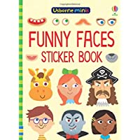 Funny Faces Sticker Book (Usborne Minis)