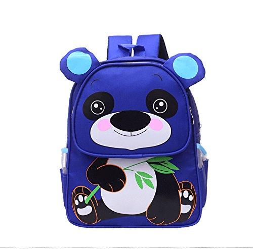 flyingsky-nylon-3d-ear-panda-animal-backpack-school-children-boy-girl-dark-blue