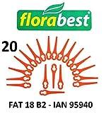 Florabest 20 Kunststoffmesser Florabest Akku Rasentrimmer FAT 18 B2 - LIDL IAN 95940 - FAT 18B2 / FAT18B2 / Material PA6