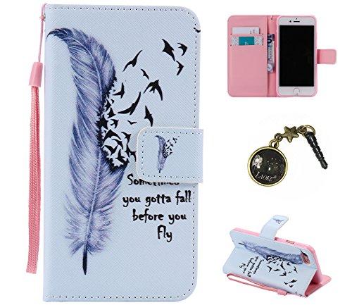 PU Silikon Schutzhülle Handyhülle Painted pc case cover hülle Handy-Fall-Haut Shell Abdeckungen für Smartphone Apple iPhone 7 (4.7 Zoll) +Staubstecker (1AT) 4