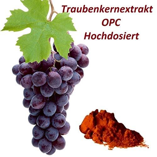 100 g Traubenkernextrakt Pulver 95% OPC extra hochdosiert naturrein ohne jegliche Zusatzstoffe in Deutschland abgefüllt im Spar Pack