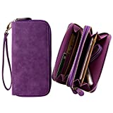 Best Kyocera T Mobile Phones - CellularOutfitter Dual Zipper Suede Phone Clutch/Wallet Case w/ Review