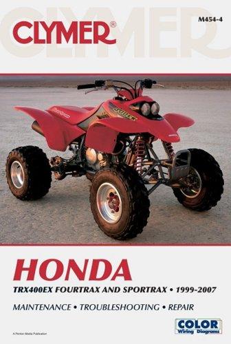 Clymer Honda TRX400EX Fourtrax and Sportrax 1999-2007: Maintenance, Troubleshooting, Repair (Clymer Color Wiring Diagrams) (2007 Trx400ex Honda)