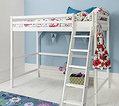 Cabin Bed High Sleeper in White kids Bed Texas Noa & Nani