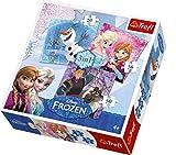 Frozen Puzzle 3 in 1 Die beliebten Frozen–Stars Elsa und Anna, der Schneemann Olaf und Kristoff zieren dieses tolle Motivpuzzle. Für jeden Schwierigkeitsgrad ist etwas dabei. Zwischen 20 und 50 Puzzleteilen kann entschieden werden. Die Puzzleteile liegen gut in der Hand und schulen neben dem ganzen Puzzlespaß auch die Feinmotorik.