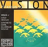 Cordes Thomastik Violon Vision Titanium Solo Synthetic Core Boule en titane à enlever;La Alu filé. 4/4; Moyen