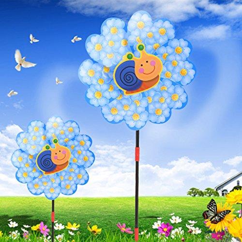 Wanfor Cartoon Windmühle Wind Spinner Hausgarten Yard Decor Kinder Spielzeug Outdoor Ornament