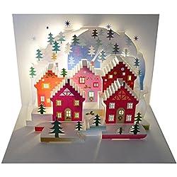 Siempre tarjetas hechas a mano Pop Ups pop94–pregunto de Navidad–Laser Pop Up Tarjeta