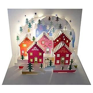 Siempre tarjetas hechas a mano Pop Ups POP94 – pregunto de Navidad – láser tarjeta Pop Up