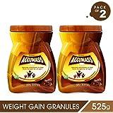 Accumass Weight Gainer Powder 525gm Chocolate Flavour (Pack of 2) with Shatavari, Draksha, Ashwagandha for Weight Gain, Mass Weight Gainer, Safe Fitness Nutrition, Muscle Gainer, Herbal Weight Gain, Natural Weight Gainer