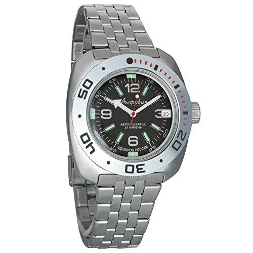 Vostok Amphibian 2416 710640 orologio uomo meccanico, stile russo militare