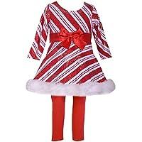62,68,74,80,86,104,110,116,122,128,134,140,152,164,170 Bonnie Jean Baby Mädchen Kleid Weihnachtskleid Samtkleid mit Pailetten und Plüsch Gr