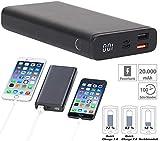 revolt Powerbank 12V: Powerbank mit Quick Charge 3.0 und USB Typ C PD, 20.000 mAh, 3 A, 18 W (Powerbank Notebook)