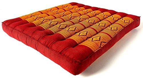 Kapok Sitzkissen 50cm x 50cm, Outdoorkissen der Marke Asia Wohnstudio, Gartenbankauflage, Stuhlauflage, Bodensitzkissen, Meditationskissen