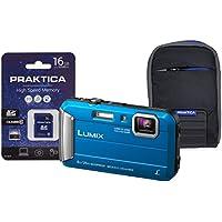Panasonic DMC-FT30 Compact System Camera - Blue (16 GB SDHC Class 10 Card, 4x Optical Zoom)