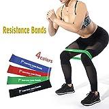Bloomma Bänder- und Krafttraining, für Fitness-Workouts, Yoga, Reha, Fitness-Training, Körper, Beine, Po, Latex, 4 Stück